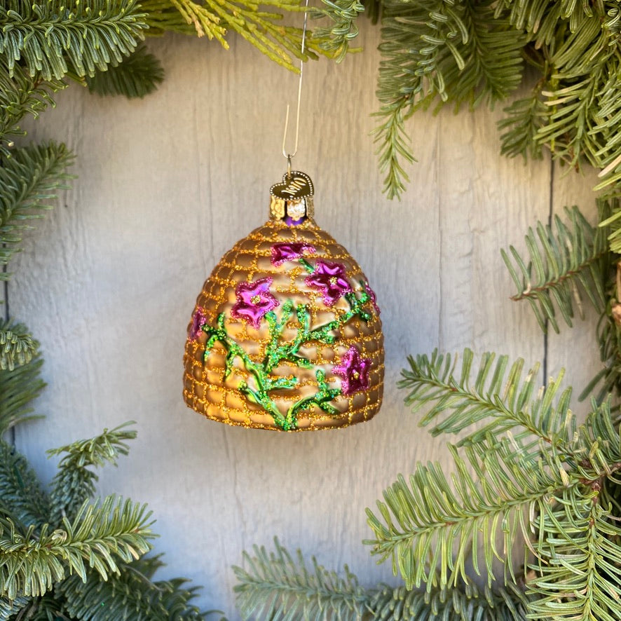 Bee Skep Christmas Tree Ornament