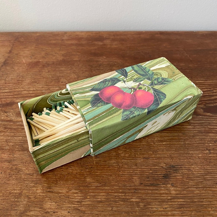Bespoke Sliding Matchbox - Apples