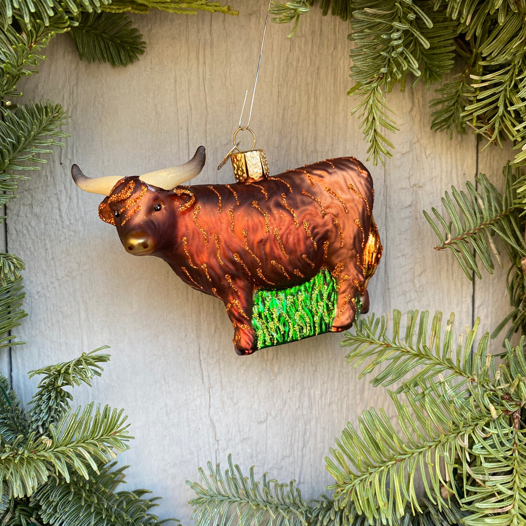 Highland Cow Christmas Tree Ornament