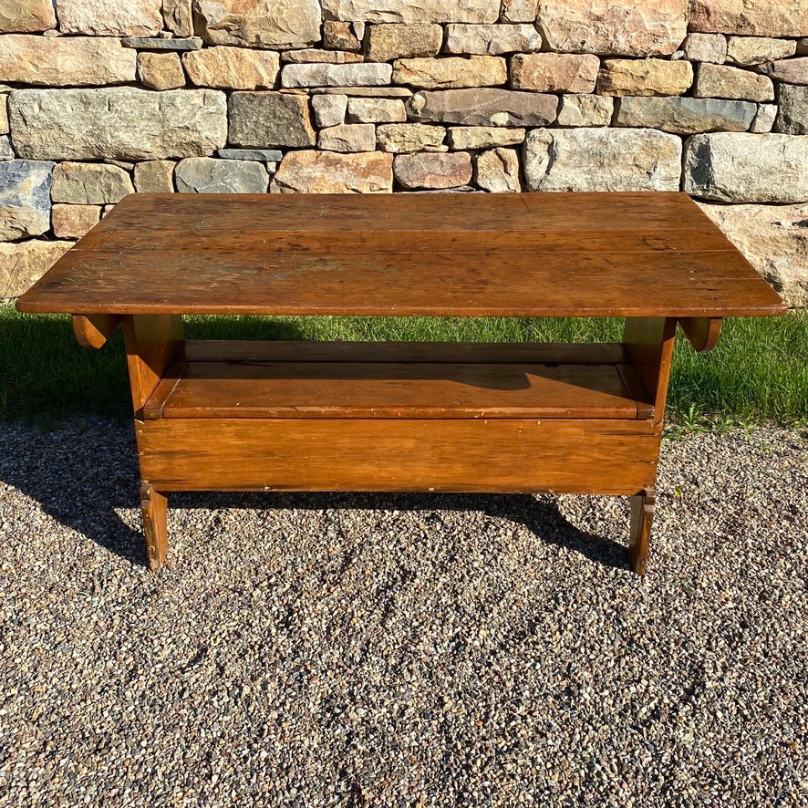 Antique Pine Hutch Table
