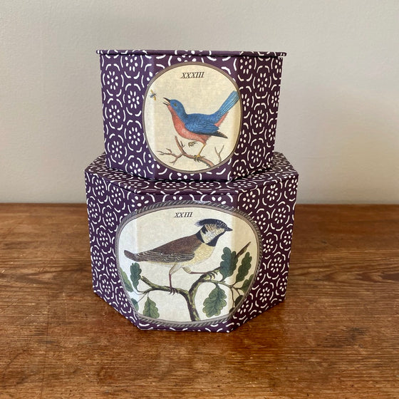 Set of Two Octagonal Bird Nesting Boxes