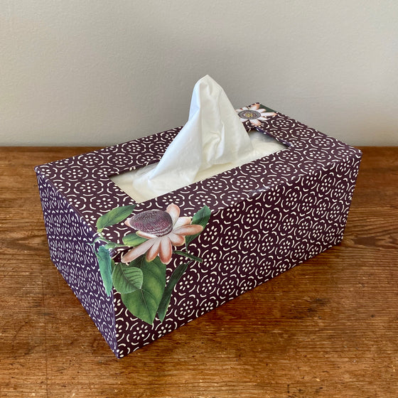 Rectangular Tissue Box - Flowers