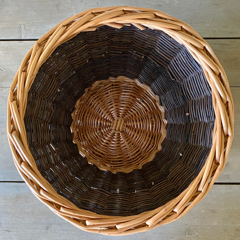 Scottish Round Steamed and Buff Willow Waste Basket