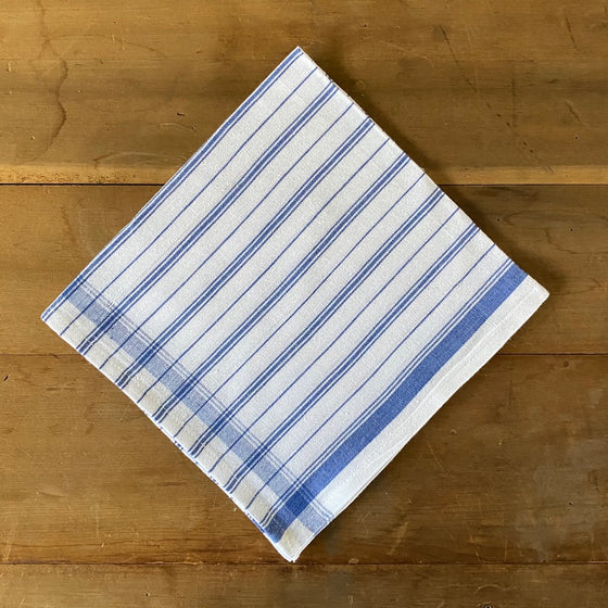 Cottage Stripe Napkins in Blue