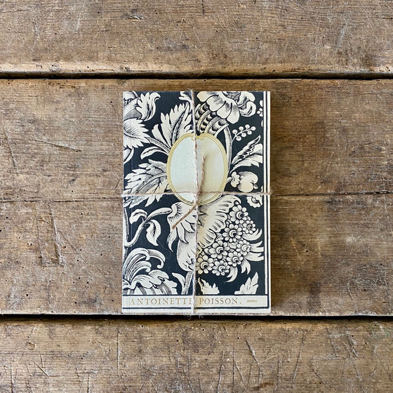 French 18th Century Inspired Notebook - Large Poppies