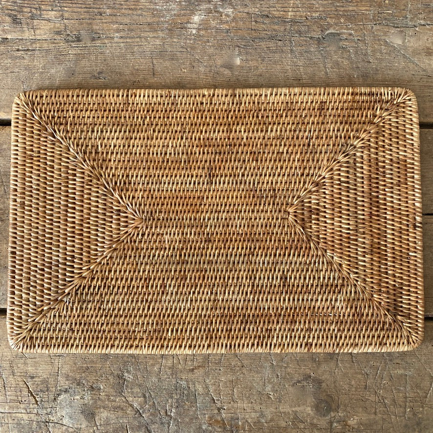 Handwoven Rattan Rectangular Placemat