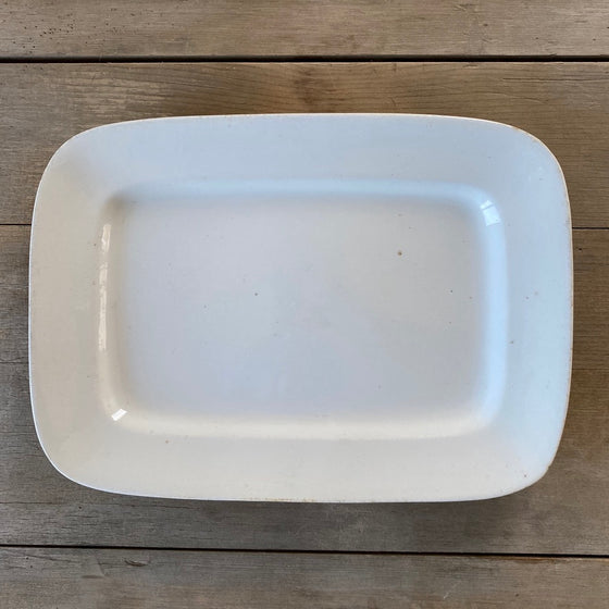 19th Century Rectangular Ironstone Platter - 13.75""