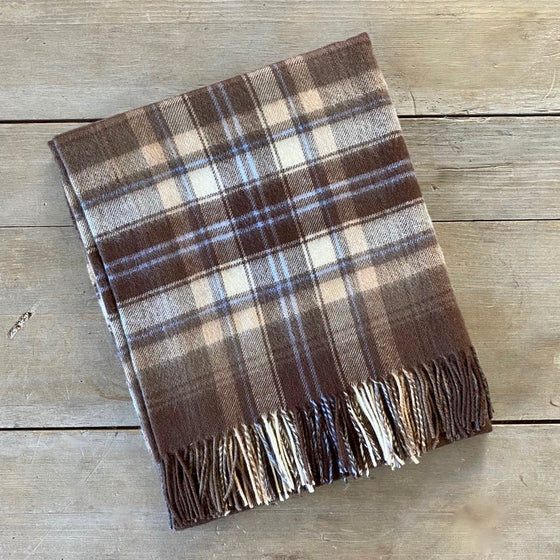 Scottish Tartan Lambswool Throw - McVitie Check