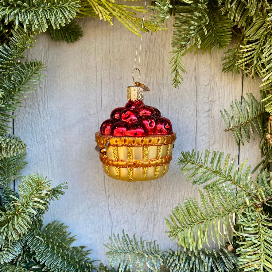 Apple Basket Christmas Tree Ornament