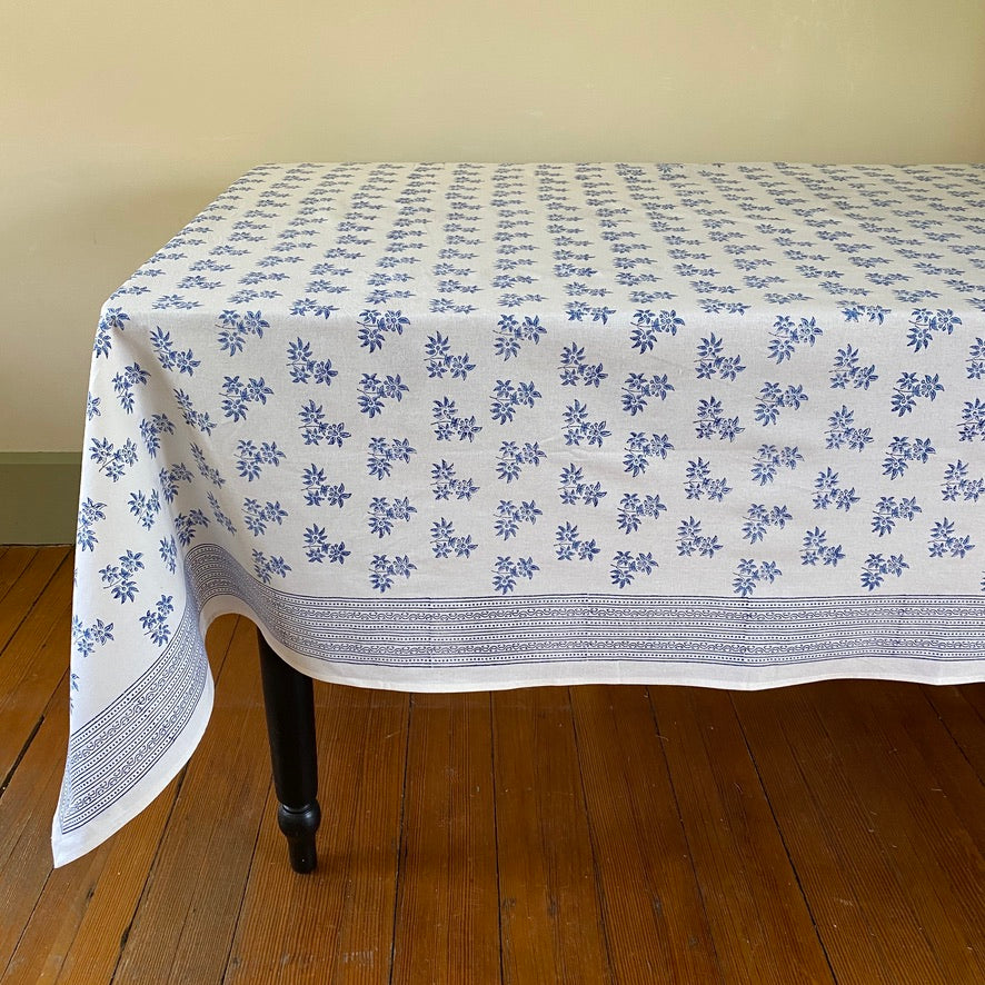 Jasmine Hand Block Printed Tablecloth