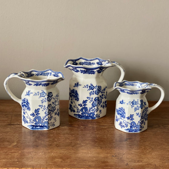 Vintage Mason's Blue and White Pitchers