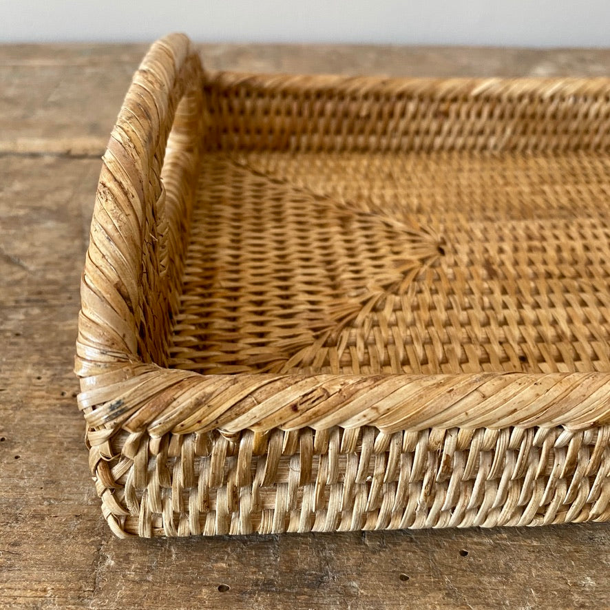 Handwoven Rattan Desk Tray