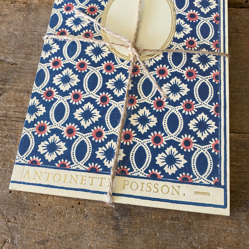 French 18th Century Inspired Notebook - Flowers & Interlacing