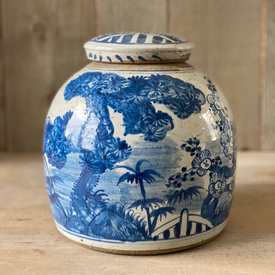 Chinese Porcelain Large Jar with Trees