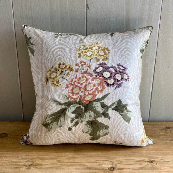 Jean Monro Polyanthus Chintz Throw Pillow