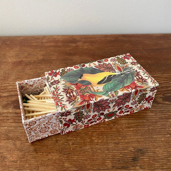 Bespoke Sliding Matchbox - Goldfinch