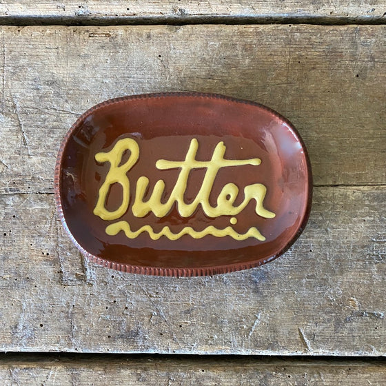 Redware Butter Dish