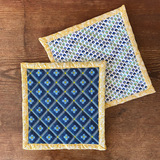 Set of Liberty of London Quilted Potholders - Manor Tile