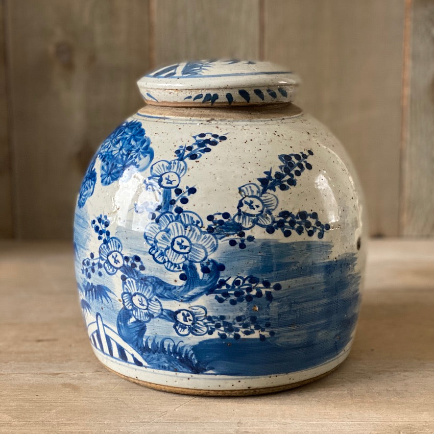 Chinese Porcelain Jar with Tree - Medium