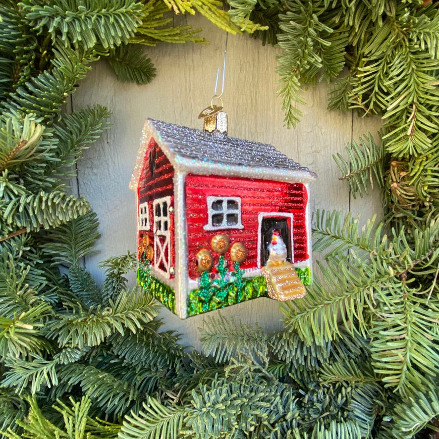 Chicken Coop Christmas Tree Ornament