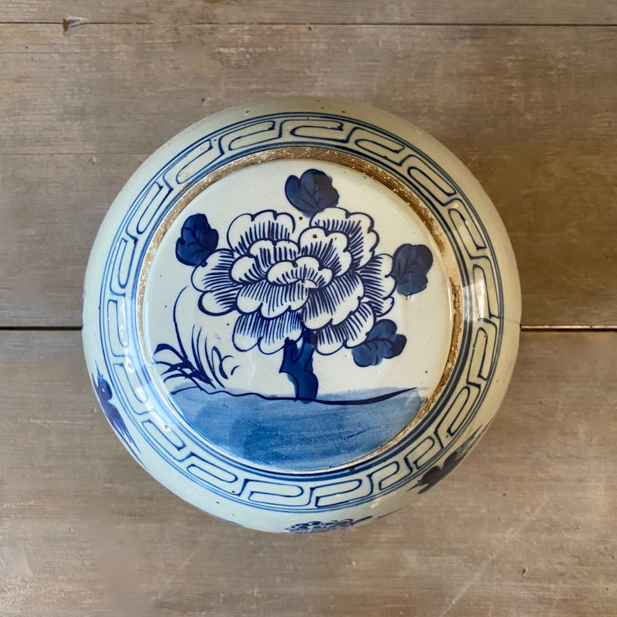Chinese Porcelain Ginger Jar with Birds and Flowers - Medium