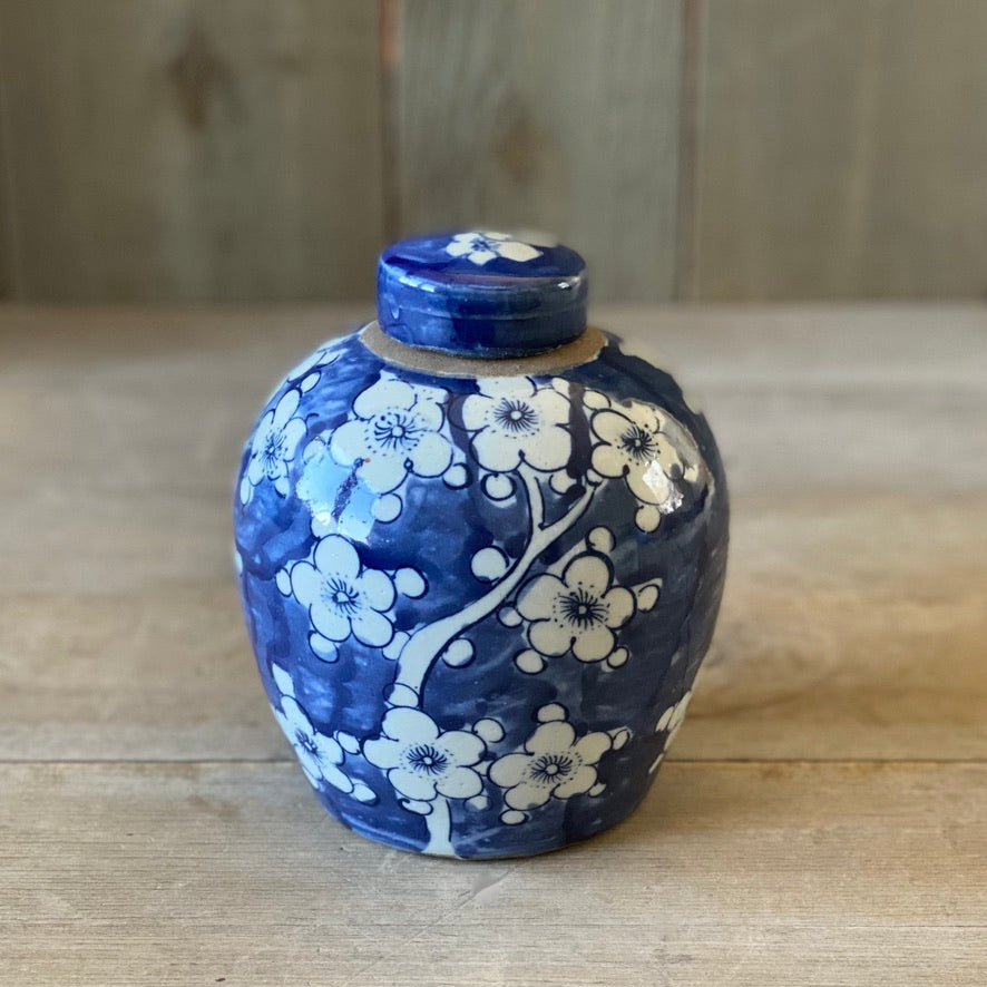 Chinese Porcelain Ginger Jar with Cherry Blossoms - Small