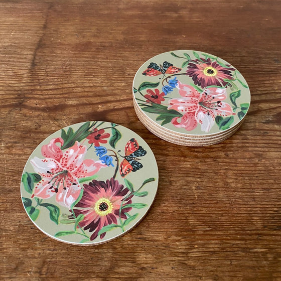Garland Clay Coaster by Nathalie Lete