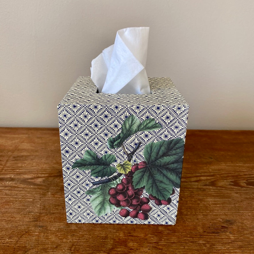 Square Tissue Box - Grapes