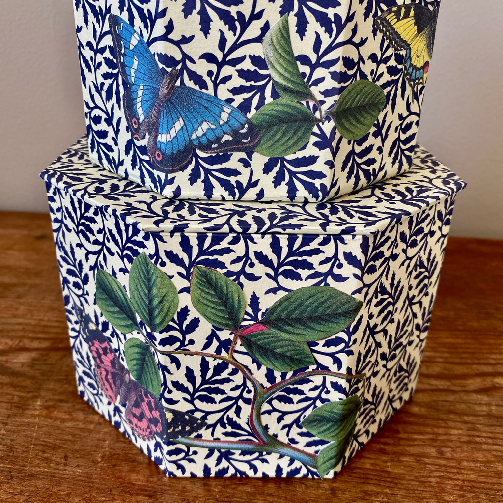 Set of Two Octagonal Butterfly Nesting Boxes
