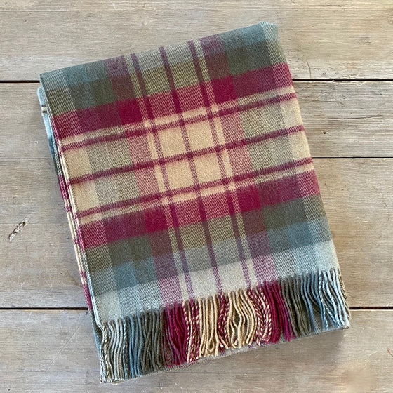 Scottish Tartan Lambswool Throw - Auld Scotland