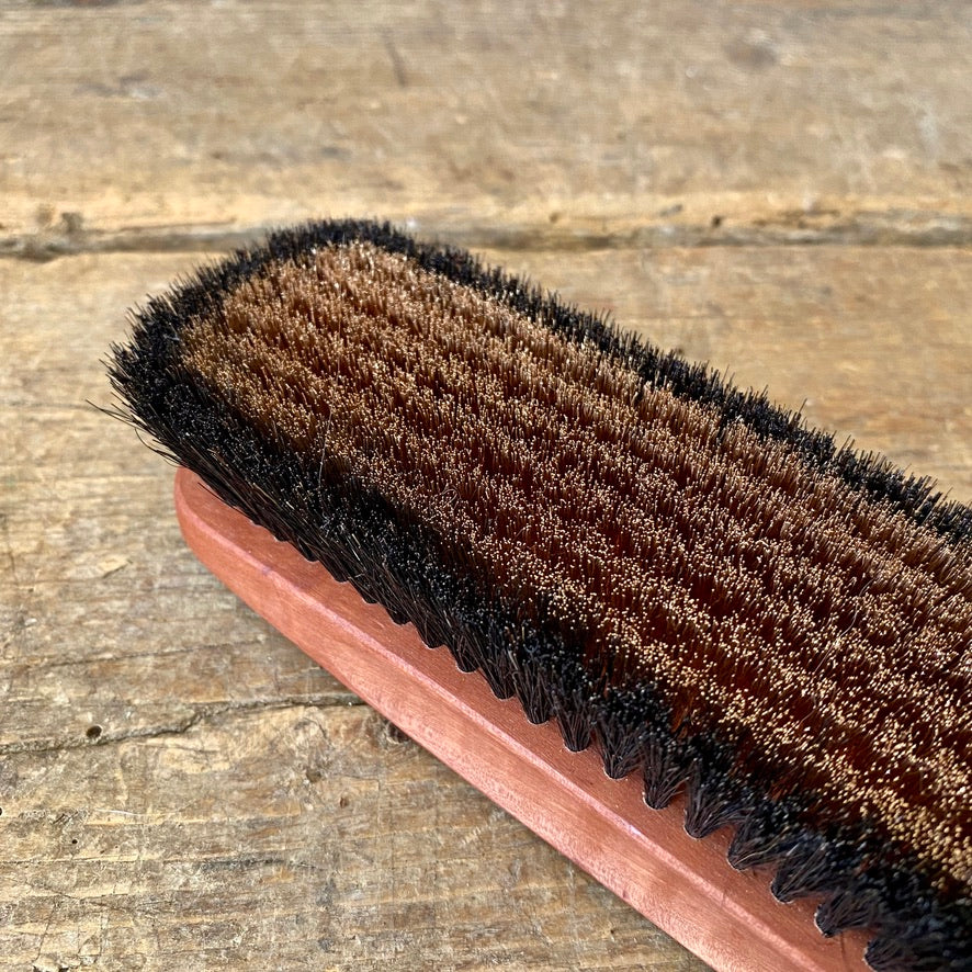 Bronze and Pearwood Clothes Brush
