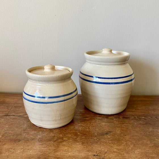 Small and Large Lidded Jars