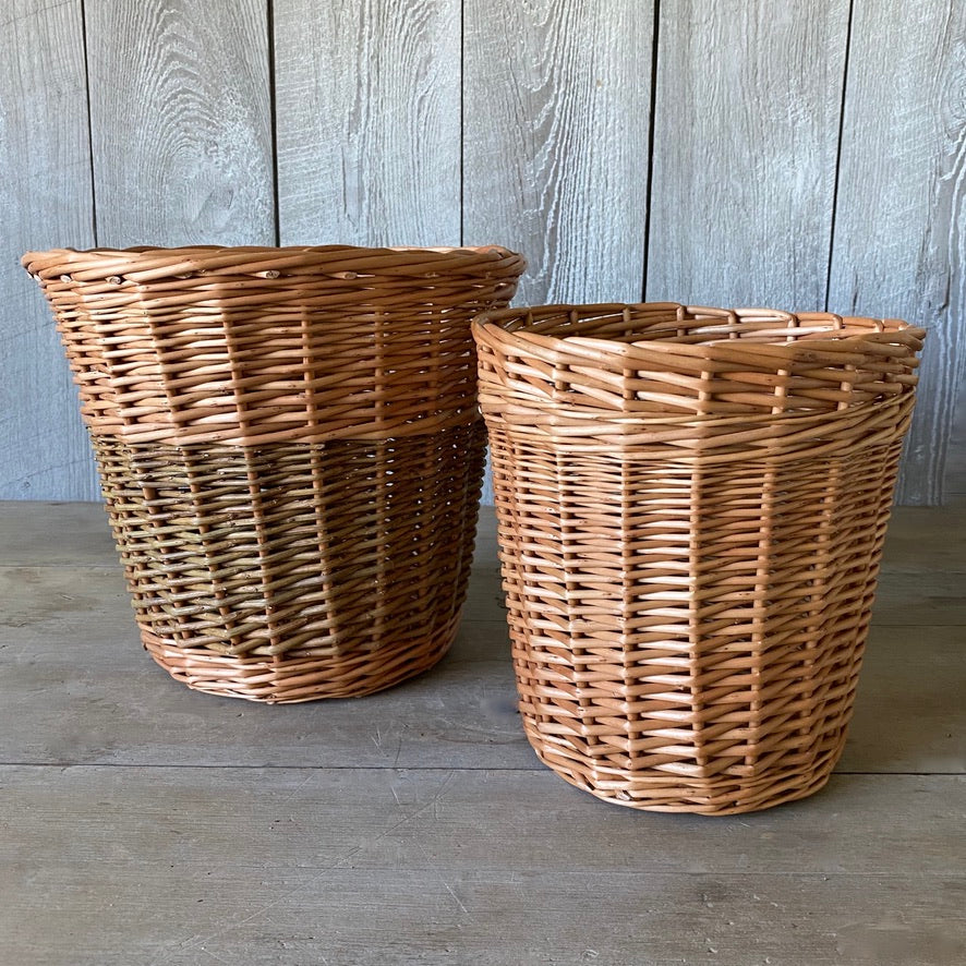 Waste Basket (L), Kindling Basket (R)
