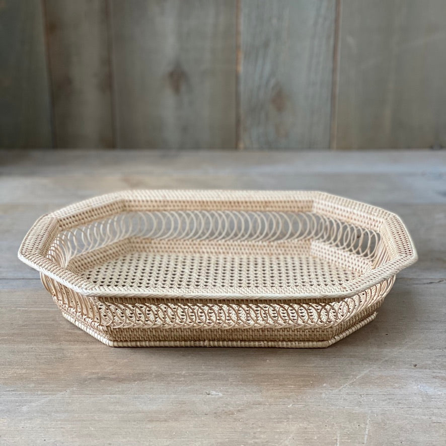 Rattan Octagonal Tray - Large