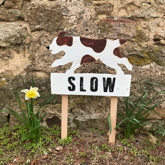 Slow Down for Dog Sign
