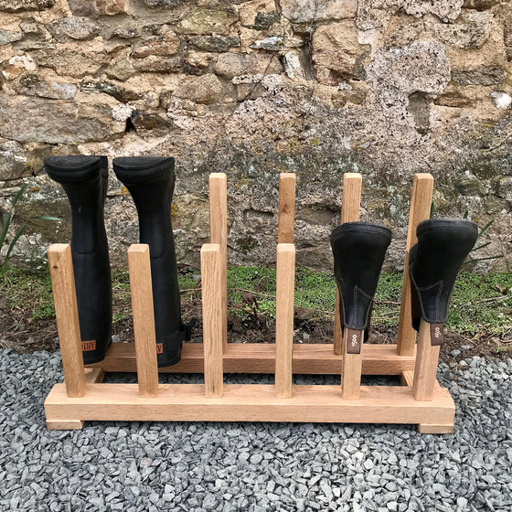 Six Pair Boot Rack