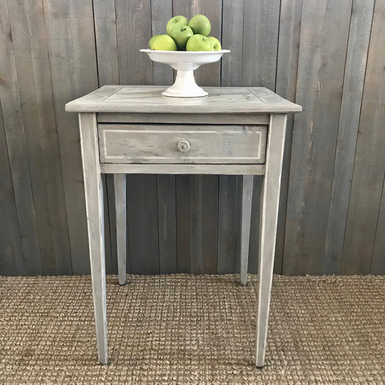 Vintage Shaker Table with Faux Marble Top