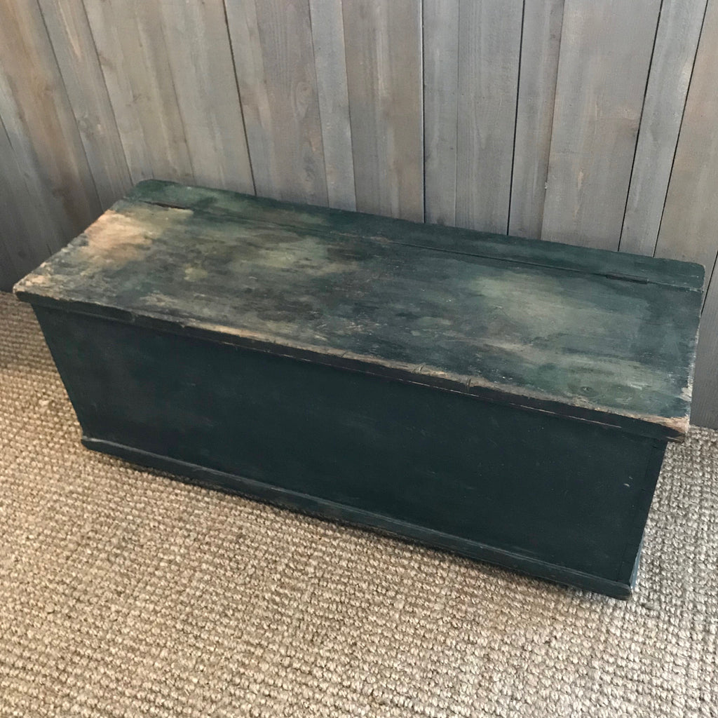 Antique Green Grain Bin