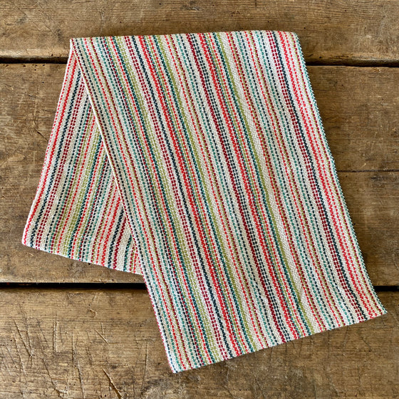 Heirloom Stripe Hand Made Dish Towel - Picnic + Natural