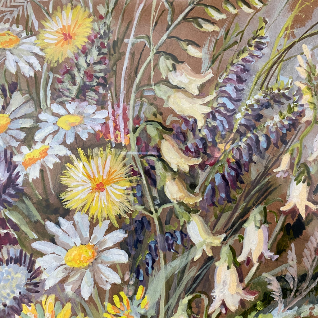 French Wildflower Painting