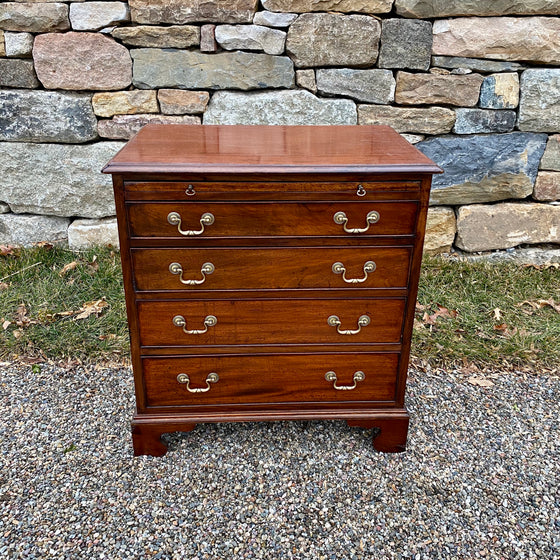 Antique English Regency Bachelor's Chest