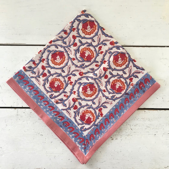 Volute Hand Block Printed Napkins