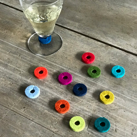 Wool Felt Drink Glass Charms