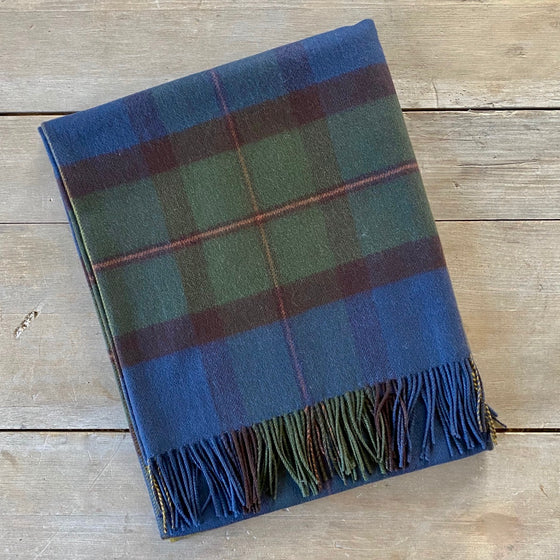 Scottish Tartan Lambswool Throw - MacLeod Of Harris Antique