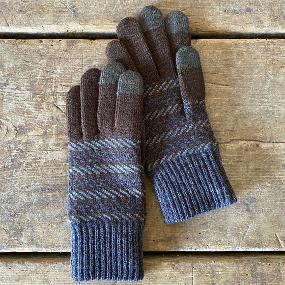Decode Wool Touchscreen Gloves - Brown