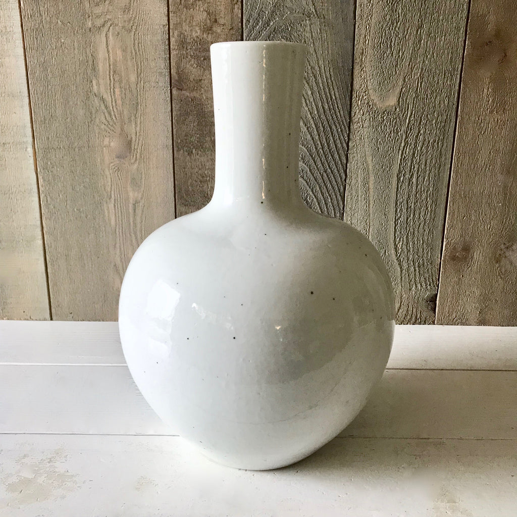 Chinese Porcelain Large White Tianqiu Vase