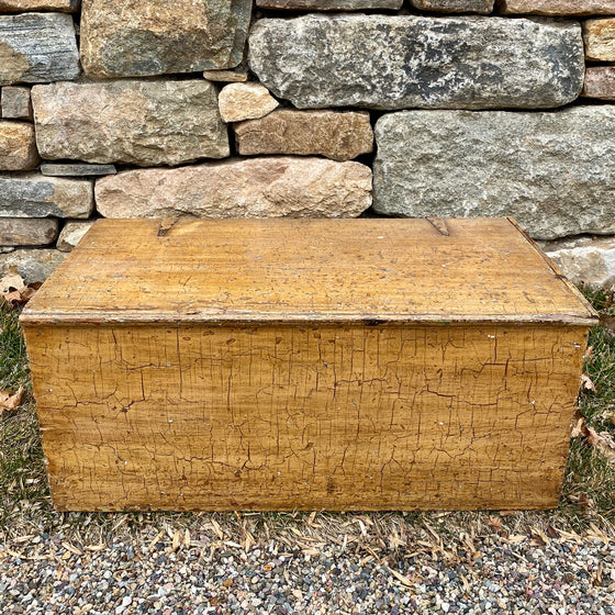 Vintage Ochre Storage Chest