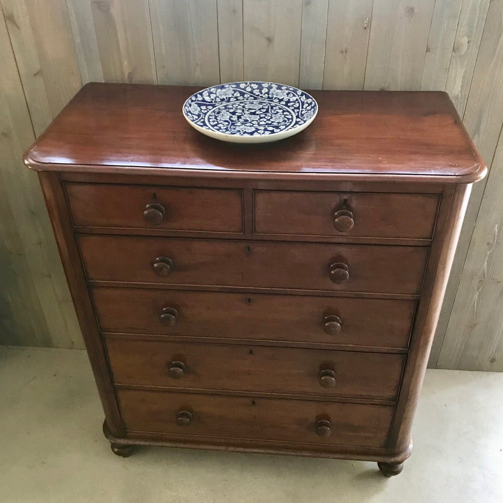 19th Century English Mahogany Chest Of Drawers
