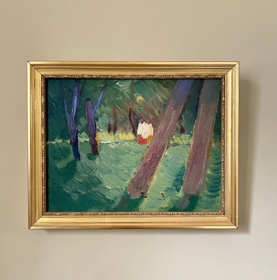 Painting of a House in the Woods
