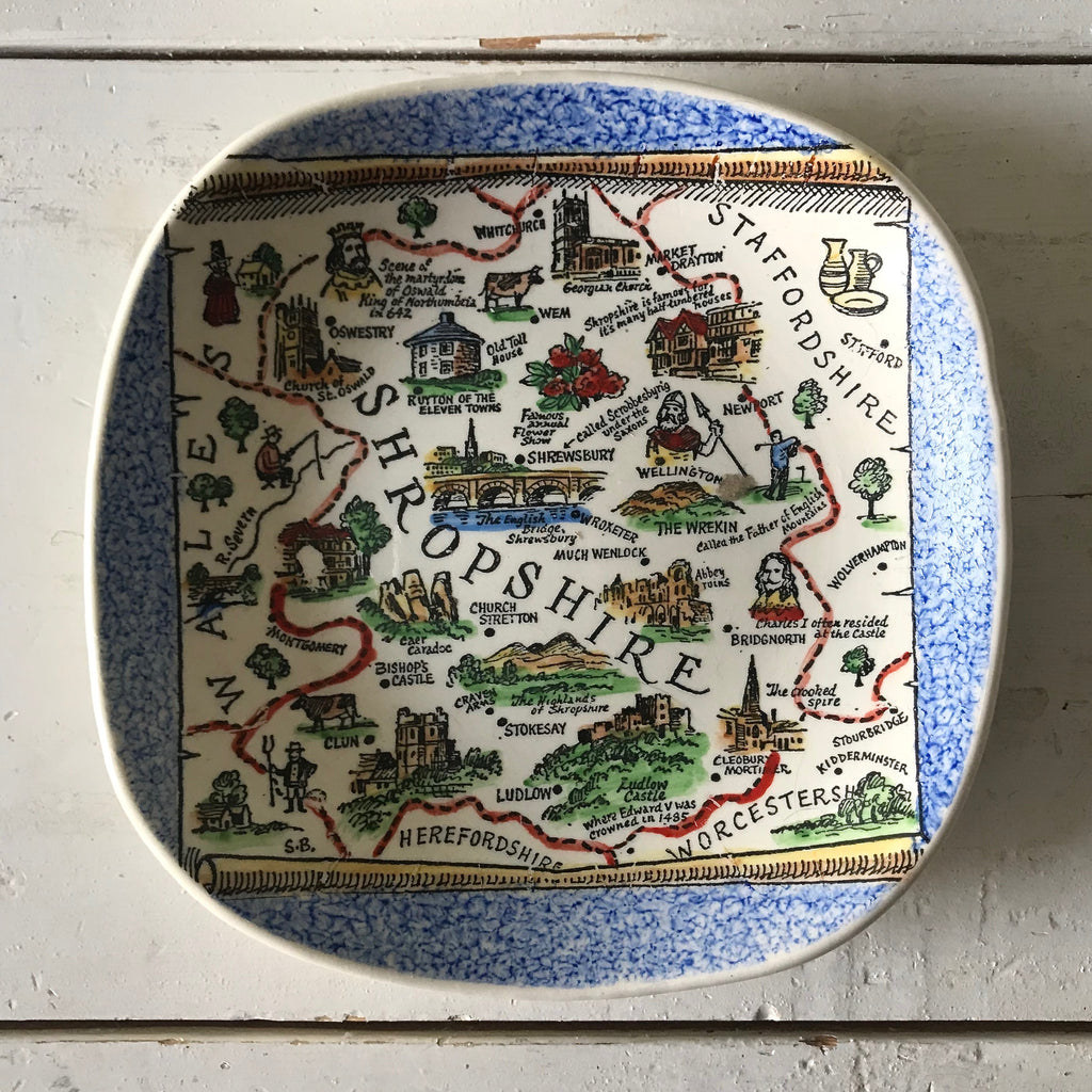 Set of Vintage British Souvenir Plates